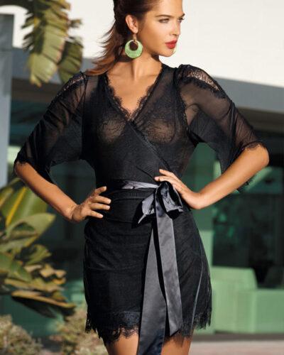 Женские черные халаты